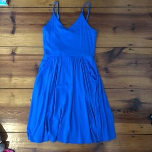 Blue a line dress size medium
